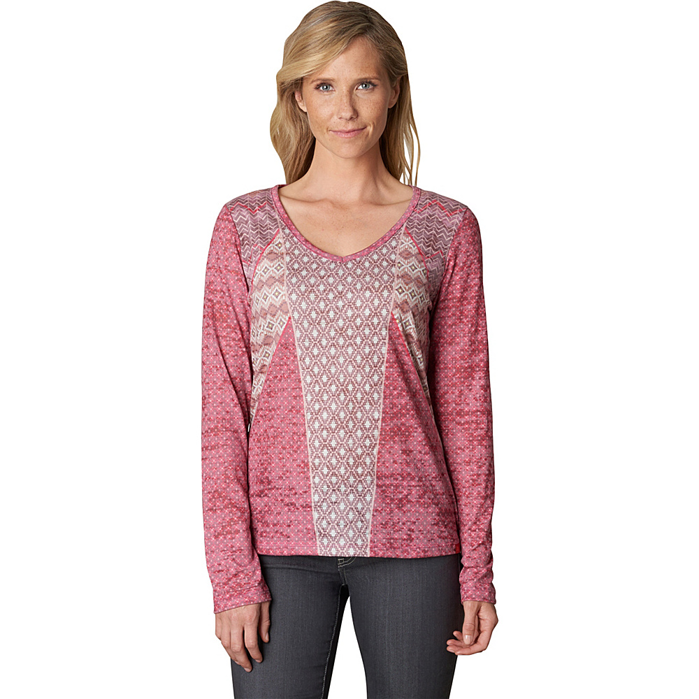 PrAna Mariposa Top XL - Sunwashed Red - PrAna Womens Apparel - Apparel & Footwear, Women's Apparel