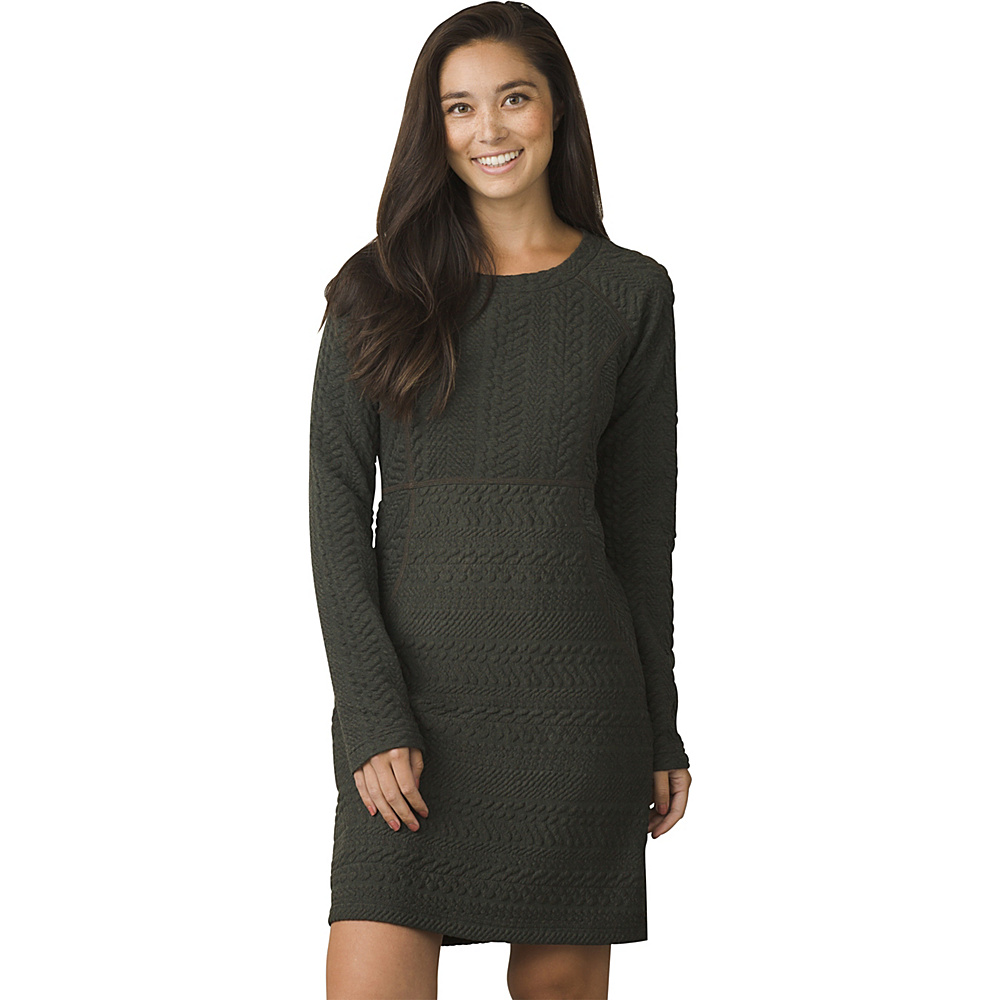 PrAna Macee Dress S - Dark Olive Heather - PrAna Womens Apparel - Apparel & Footwear, Women's Apparel