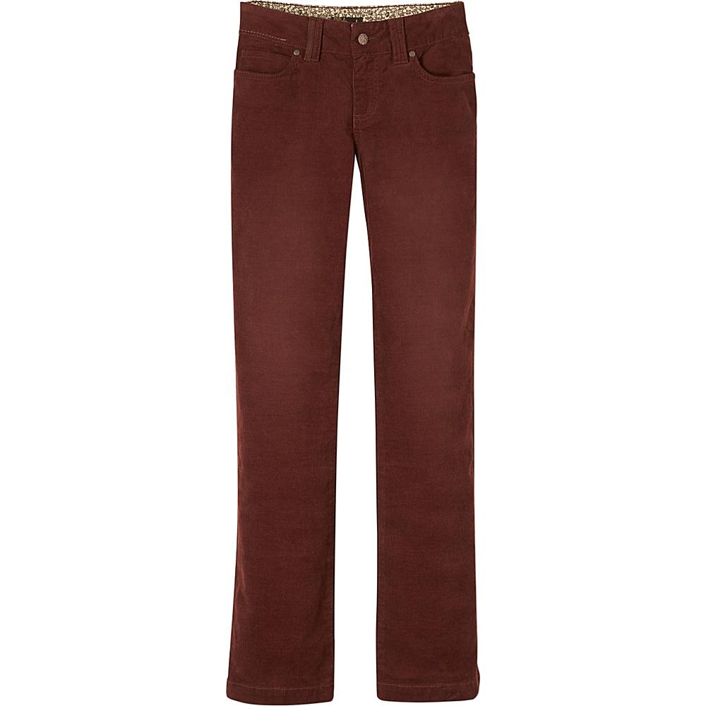 PrAna Crossing Cord Pant - Regular 2 - Dark Umber - PrAna Womens Apparel - Apparel & Footwear, Women's Apparel