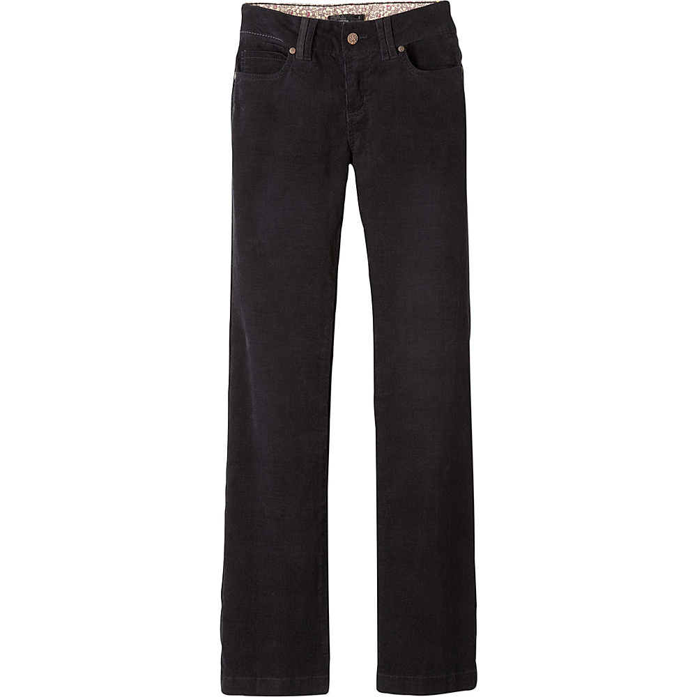 PrAna Crossing Cord Pant - Regular 2 - Black - PrAna Womens Apparel - Apparel & Footwear, Women's Apparel