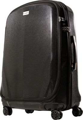 CASED Luggage One 30 inch Checked Bag Black - CASED Luggage Hardside Checked