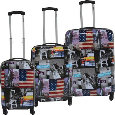McBrine Luggage Lightweight Hardside 3-Piece Luggage Set ...