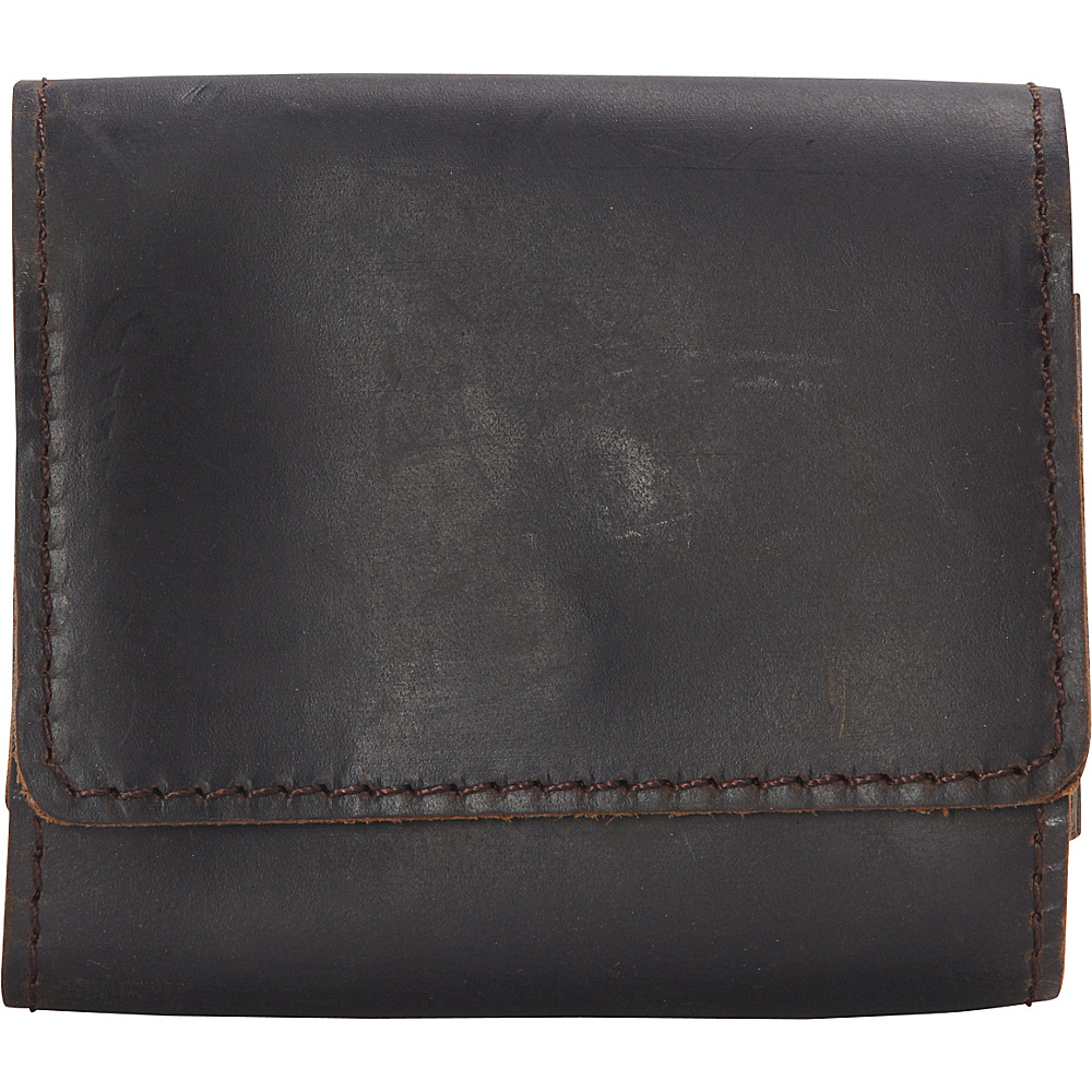 Vagabond Traveler Full Grain Leather Classic Cards Organize Holder Dark Brown - Vagabond Traveler Mens Wallets - Work Bags & Briefcases, Men's Wallets