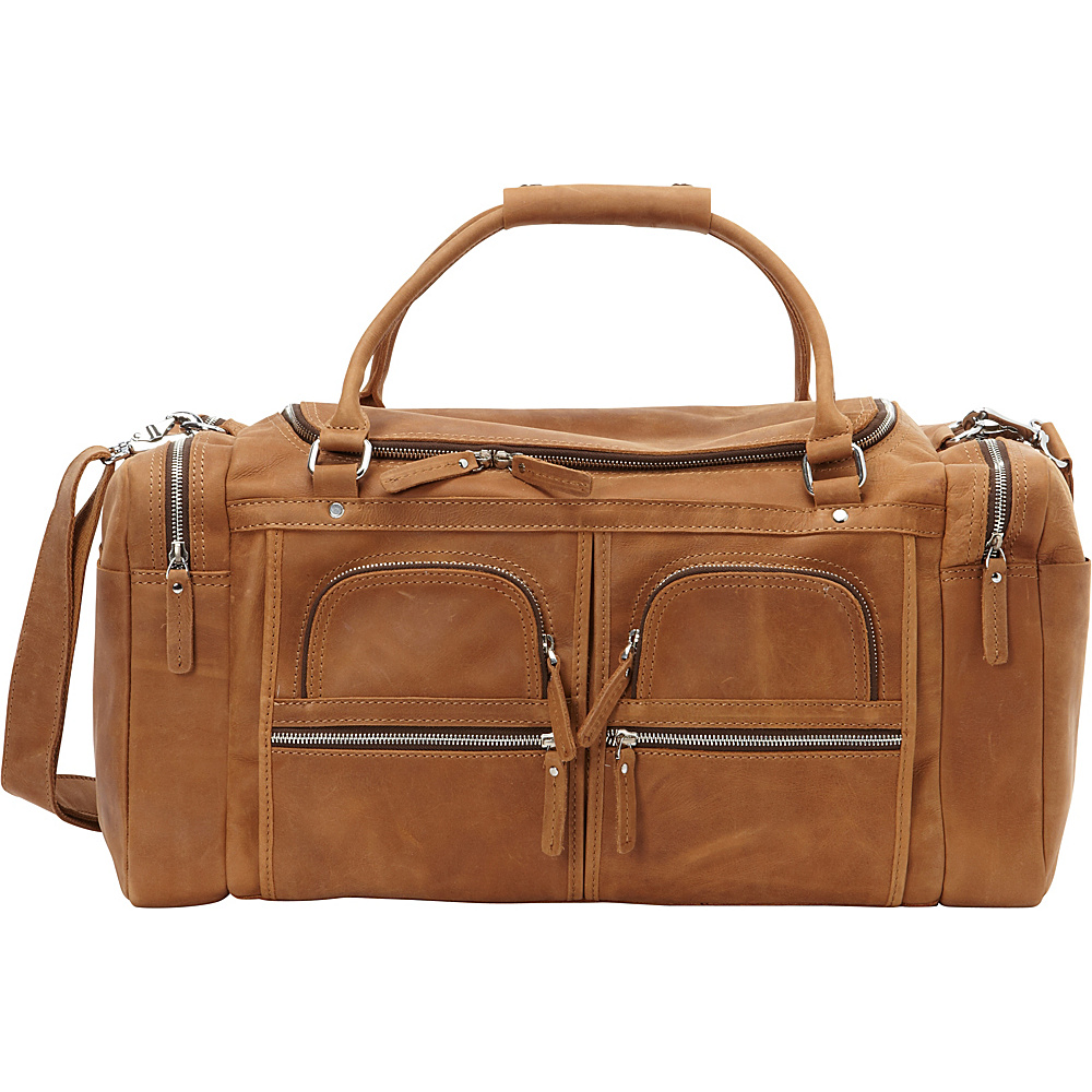 Vagabond Traveler NESTOR - 21 Leather Overnight Traveler Gym Bag Brown - Vagabond Traveler Rolling Duffels - Luggage, Rolling Duffels