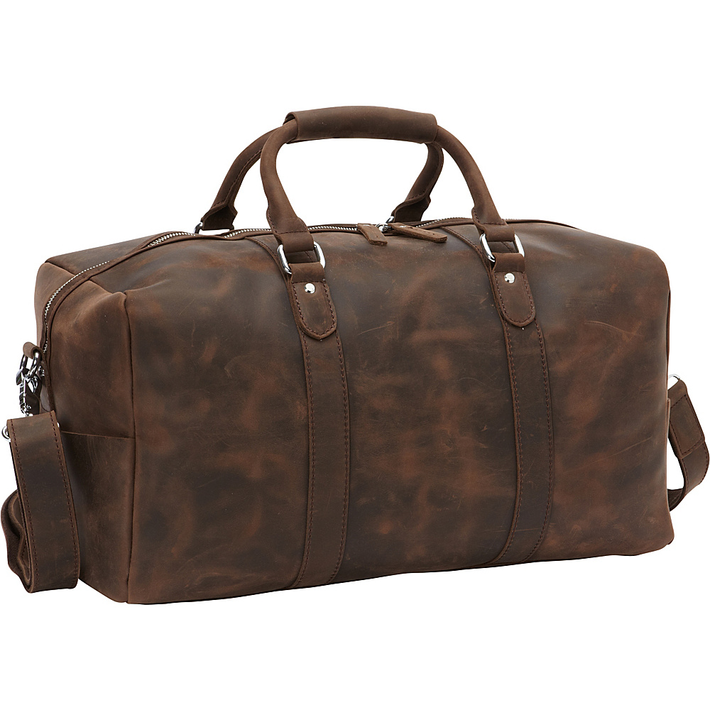 Vagabond Traveler Cowhide Leather Overnight Travel Carry On Tote Distress - Vagabond Traveler Rolling Duffels