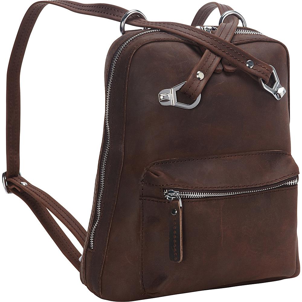 Vagabond Traveler Full Grain Cowhide Leather Backpack-Small Size Distress - Vagabond Traveler Everyday Backpacks - Backpacks, Everyday Backpacks