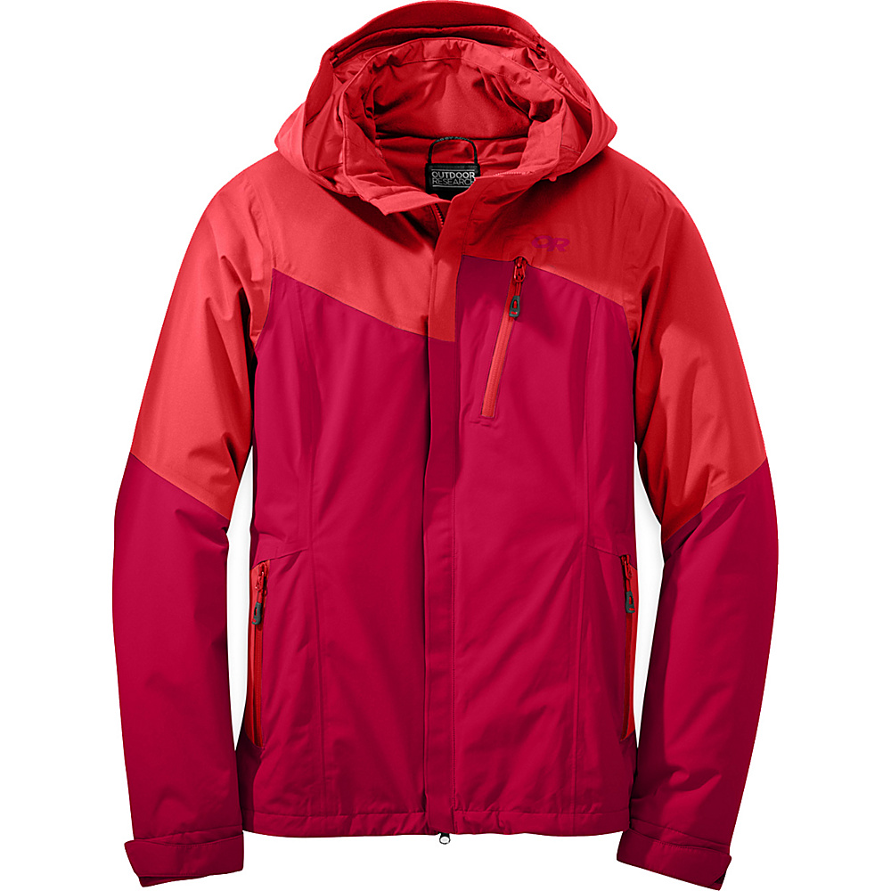 Outdoor Research Womens Offchute Jacket L - Flame/Scarlet - Outdoor Research Womens Apparel - Apparel & Footwear, Women's Apparel
