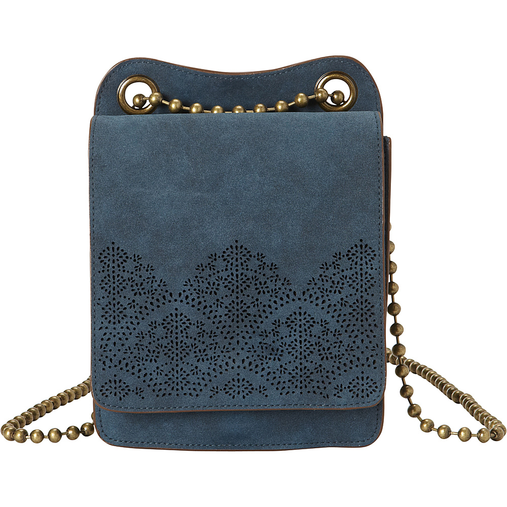 T shirt Jeans Perforated Mini Crossbody Blue T shirt Jeans Manmade Handbags