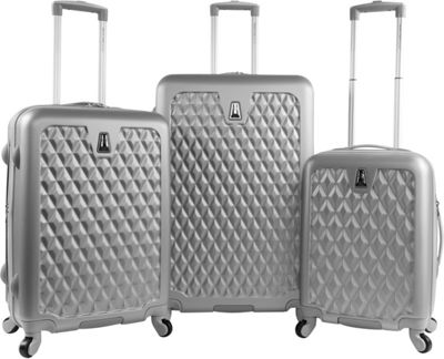 Pacific Coast Pandora Hardside Rolling Luggage Set Silver - Pacific Coast Luggage Sets