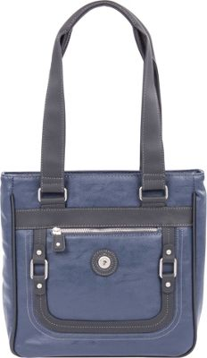 Mouflon Original RFID Generation Tote Navy/Black - Mouflon Original Manmade Handbags