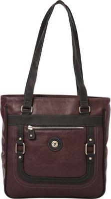 Mouflon Original RFID Generation Tote Wine/Black - Mouflon Original Manmade Handbags