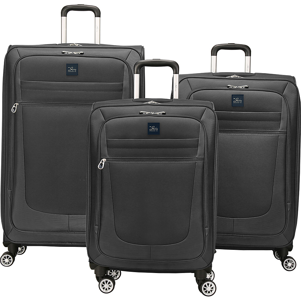 Skyway Deluxe Revel 3 Piece Set Black Skyway Luggage Sets