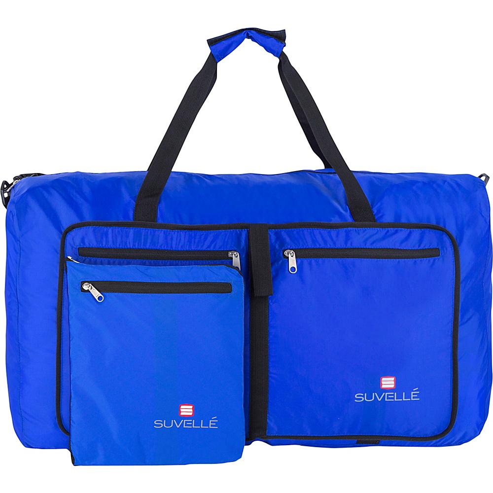 Suvelle Lightweight 29 Travel Foldable Duffel Bag Blue Suvelle Travel Duffels