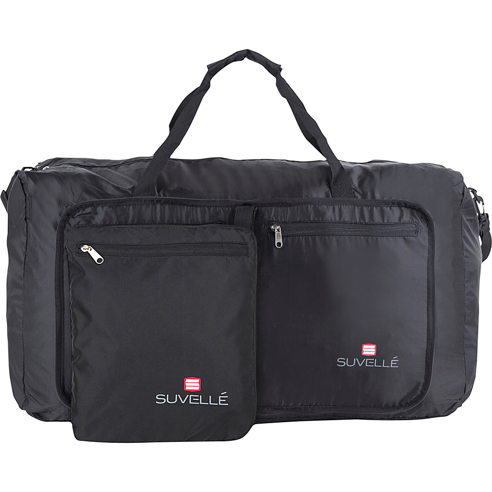 Suvelle Lightweight 29 Travel Foldable Duffel Bag Black Suvelle Travel Duffels