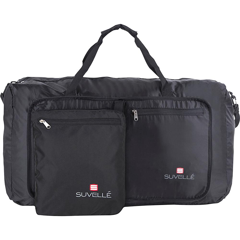Suvelle Lightweight 29 Travel Foldable Duffel Bag Black Suvelle Travel Duffels
