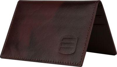 Suvelle Mens Thin RFID Slim Leather Card Holder Wallet Brown - Suvelle Men's Wallets