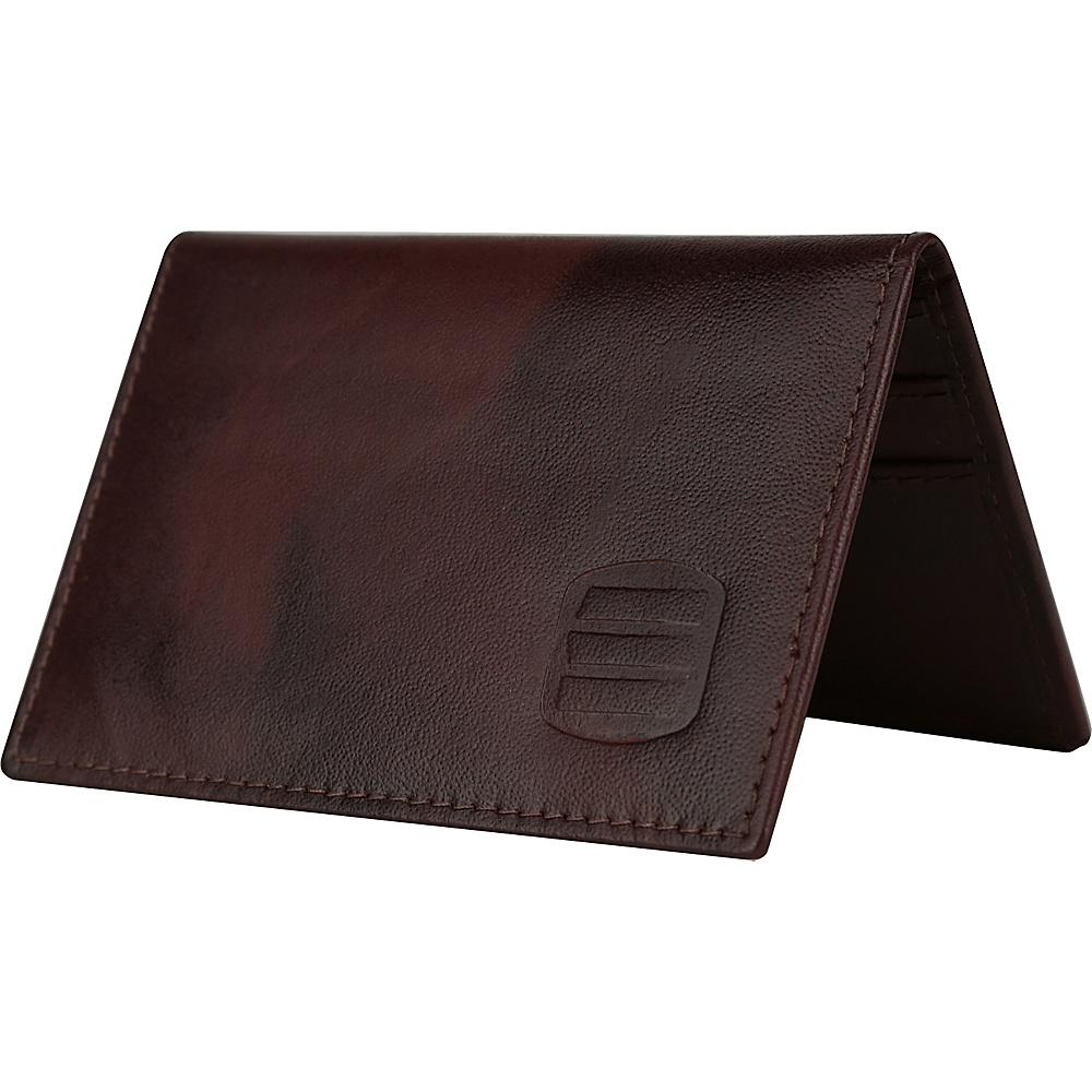 Suvelle Mens Thin RFID Slim Leather Card Holder Wallet Brown Suvelle Men s Wallets