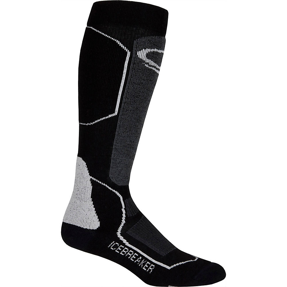 Icebreaker Mens Ski+ Light OTC Sock M - Oil/Black/Silver - Icebreaker Legwear/Socks - Fashion Accessories, Legwear/Socks