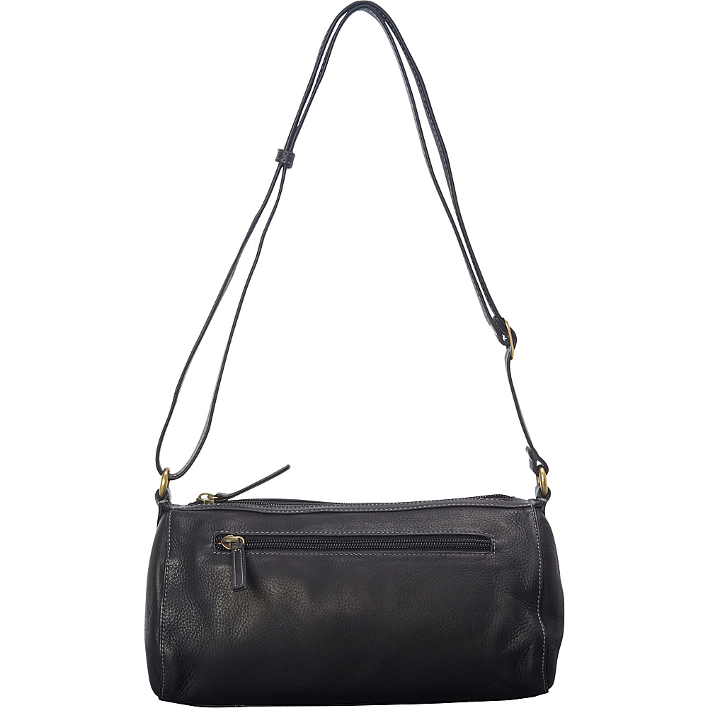 Derek Alexander EW Cylinder Shoulder Bag Black - Derek Alexander Leather Handbags - Handbags, Leather Handbags