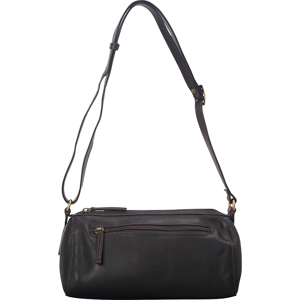 Derek Alexander EW Cylinder Shoulder Bag Brown - Derek Alexander Leather Handbags - Handbags, Leather Handbags