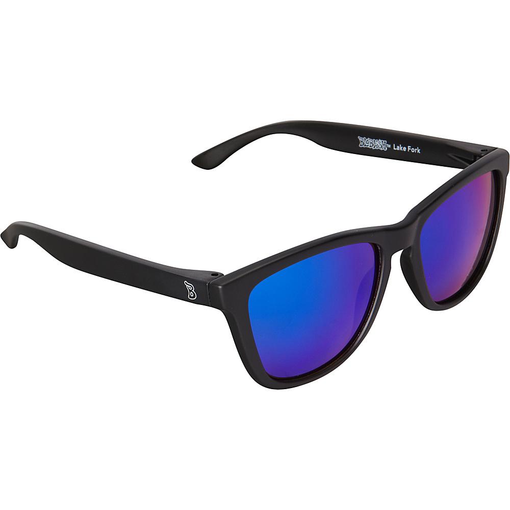 BlobFish Sunglasses Lake Fork Polarized Sunglasses Matte Black / Blue-Purple - BlobFish Sunglasses Sunglasses