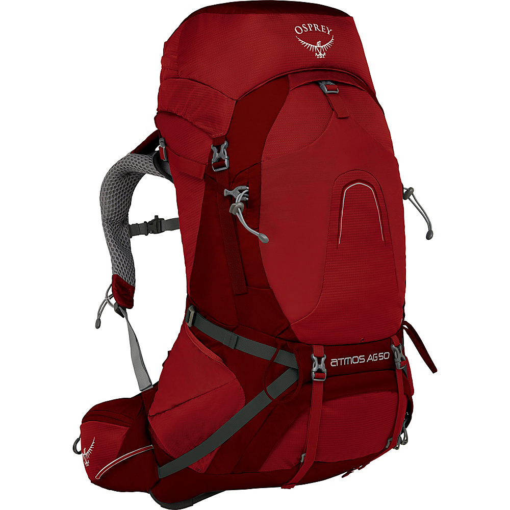 Osprey Atmos AG 50 Backpack Rigby Red – SM - Osprey Backpacking Packs - Outdoor, Backpacking Packs