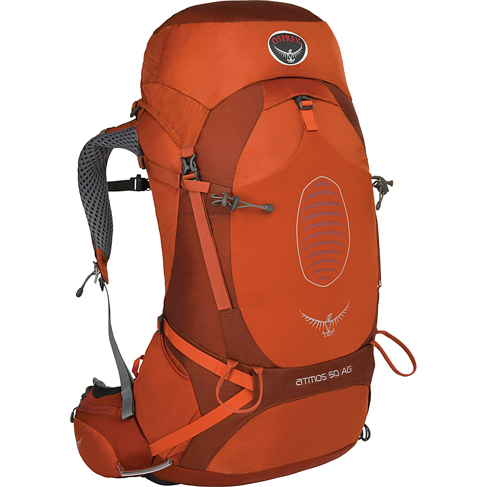 Osprey Atmos AG 50 Backpack Cinnabar Red - LG - Osprey Backpacking Packs - Outdoor, Backpacking Packs