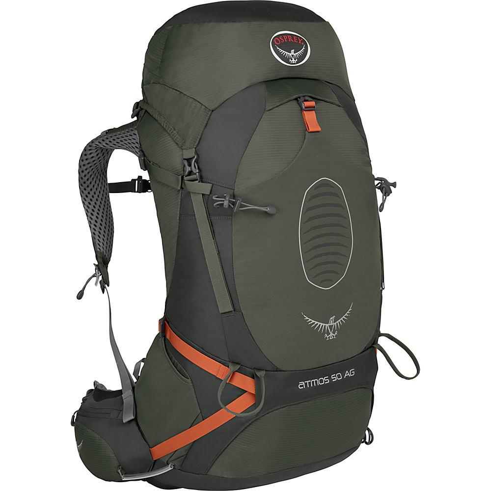 Osprey Atmos AG 50 Backpack Graphite Grey - MD - Osprey Backpacking Packs - Outdoor, Backpacking Packs