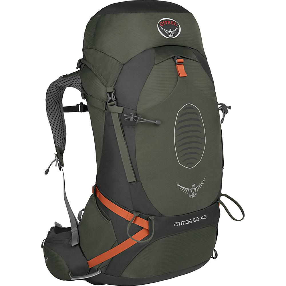Osprey Atmos AG 50 Backpack Graphite Grey - LG - Osprey Backpacking Packs - Outdoor, Backpacking Packs