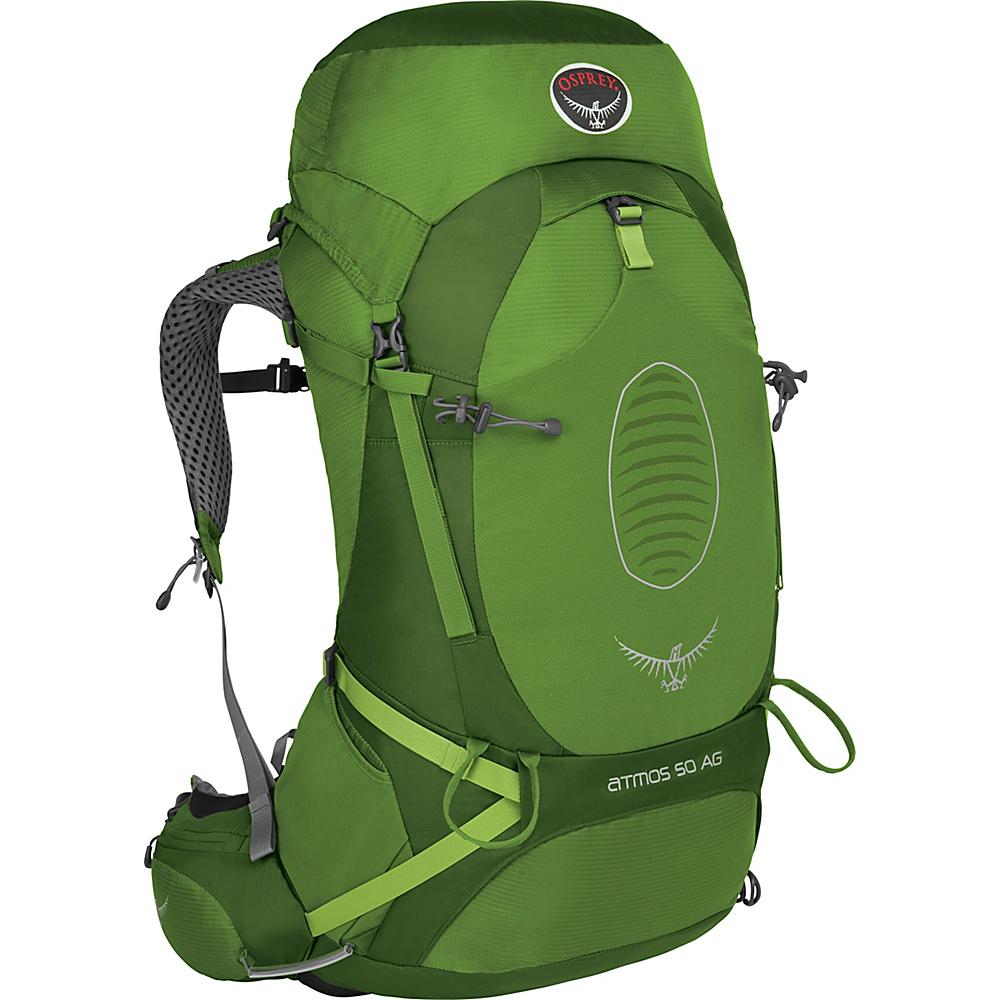 Osprey Atmos AG 50 Backpack Absinthe Green - LG - Osprey Backpacking Packs - Outdoor, Backpacking Packs