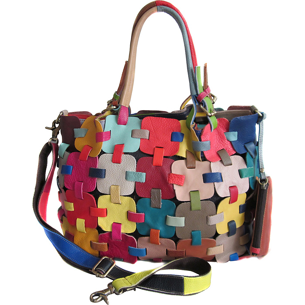 AmeriLeather Colby Leather Tote Bag Rainbow - AmeriLeather Leather Handbags - Handbags, Leather Handbags