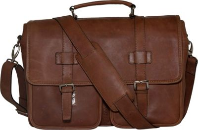 Vicenzo Leather Baxton Full Grain Leather Messenger Laptop Bag Brown - Vicenzo Leather Messenger Bags
