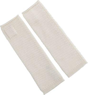 Kinross Cashmere Basketweave Texting Glove One Size - Ivory - Kinross Cashmere Hats/Gloves/Scarves