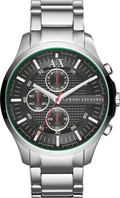A/X Armani Exchange Hampton Chrono Collection Watch Silver - A/X Armani Exchange Watches
