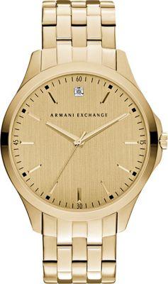 A/X Armani Exchange Hampton Collection Watch Gold - A/X Armani Exchange Watches