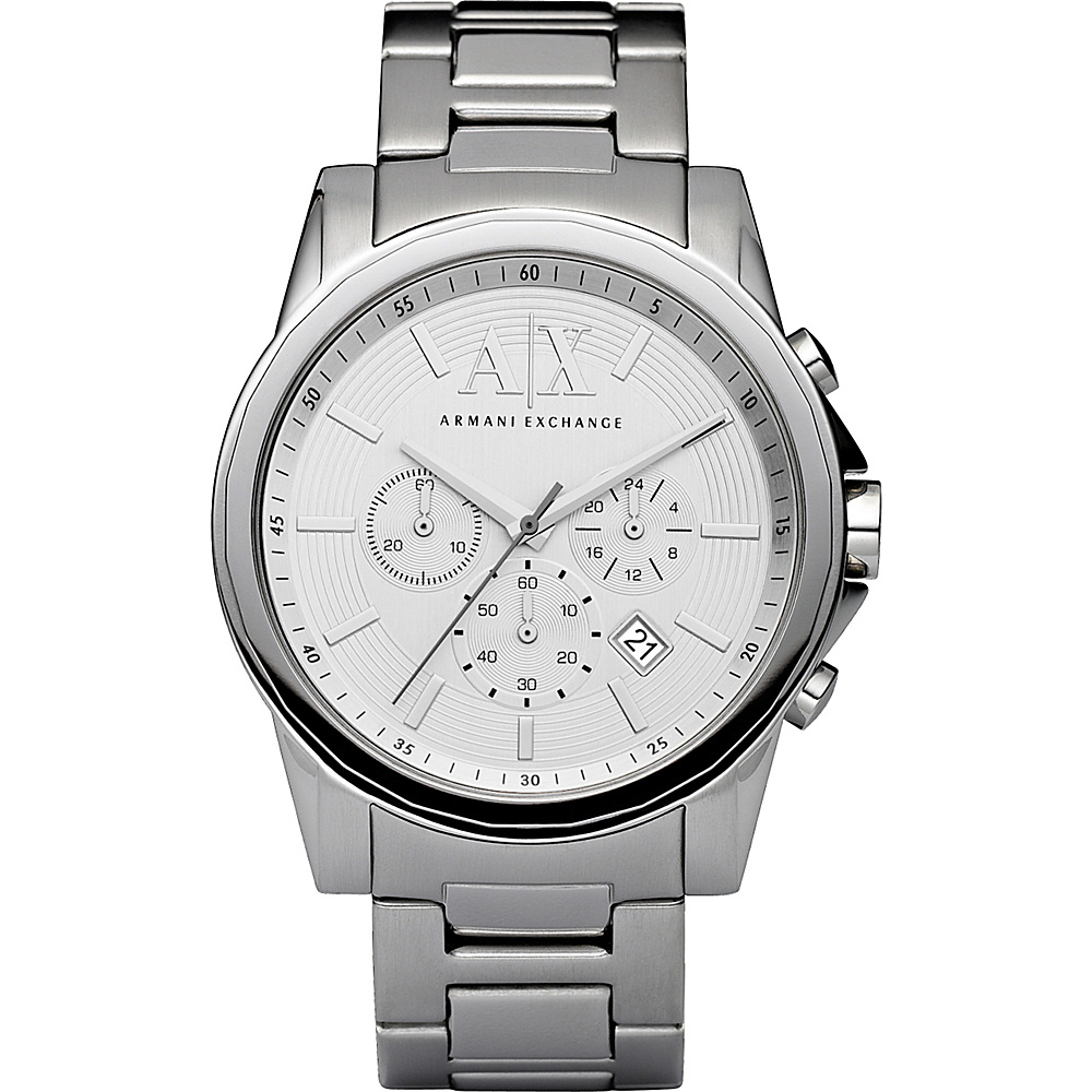 A X Armani Exchange Smart Stainless Steel Chronograph Watch Silver A X Armani Exchange Watches