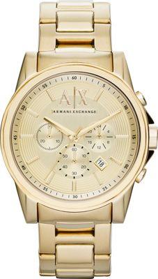 A/X Armani Exchange Outer Banks Chronograph Watch Gold - A/X Armani Exchange Watches