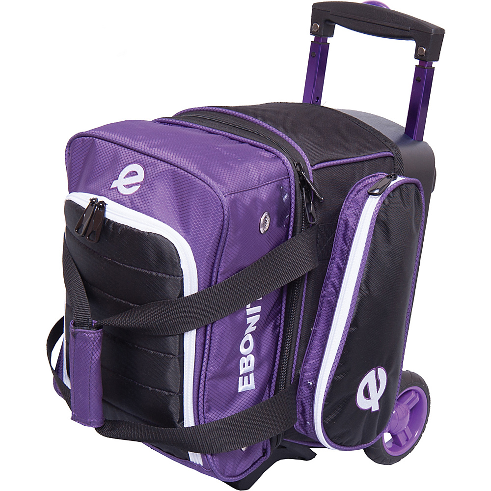Ebonite Eclipse Single Roller Bowling Bag Purple Ebonite Bowling Bags