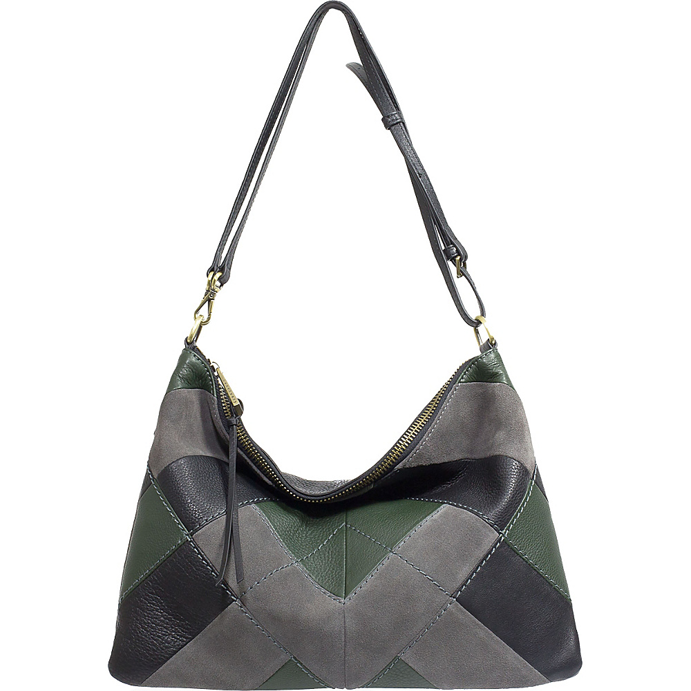 Sanctuary Handbags Modern Patchwork Crossbody Grey Mica Vert Black Sanctuary Handbags Designer Handbags