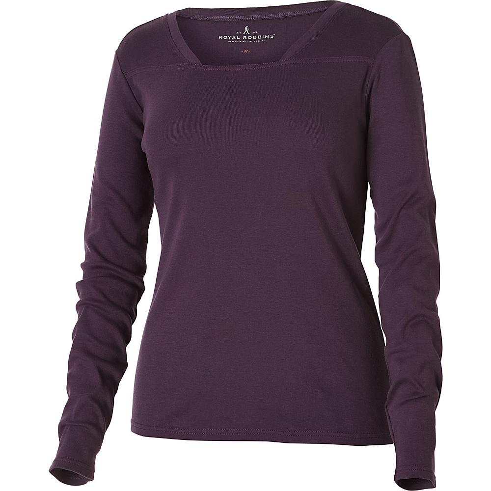 Royal Robbins Kick Back Square Neck Top XS - Dark Violet - Royal Robbins Mens Apparel - Apparel & Footwear, Men's Apparel
