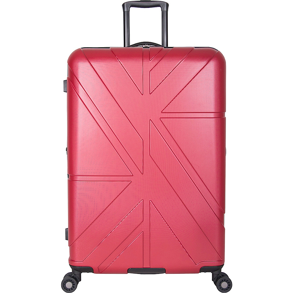 Ben Sherman Luggage Oxford Collection 28 Upright Luggage Red Ben Sherman Luggage Softside Checked