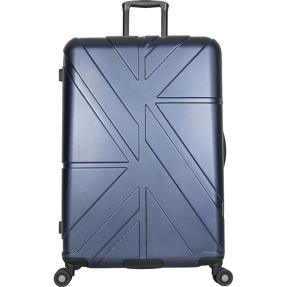 Ben Sherman Luggage Oxford Collection 28 Upright Luggage Navy Ben Sherman Luggage Softside Checked