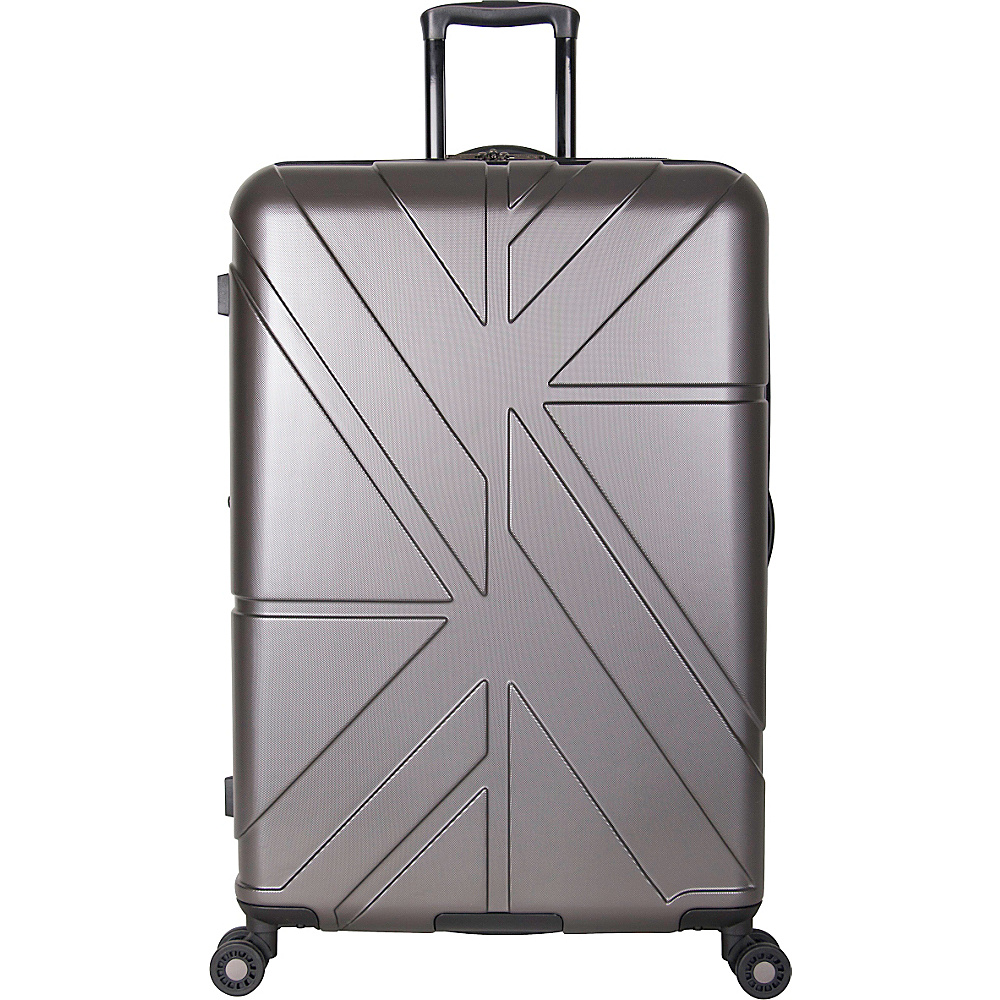 Ben Sherman Luggage Oxford Collection 28 Upright Luggage Charcoal Ben Sherman Luggage Softside Checked