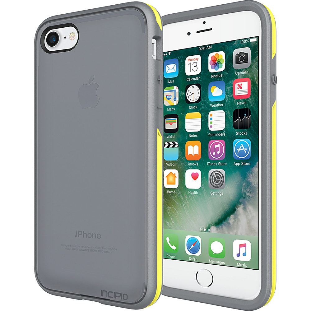 Incipio Performance Series Slim for iPhone 7 Charcoal Gray/Yellow(CGY) - Incipio Electronic Cases - Technology, Electronic Cases