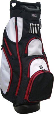 RJ Golf Deluxe Cart Bag Black/White - RJ Golf Golf Bags