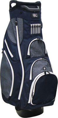 RJ Golf Deluxe Cart Bag Navy/Grey - RJ Golf Golf Bags