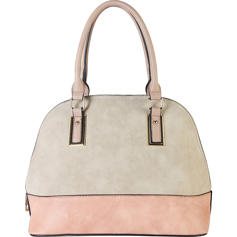 Diophy Two tone Shell Tote with Removable Straps Beige Diophy Manmade Handbags