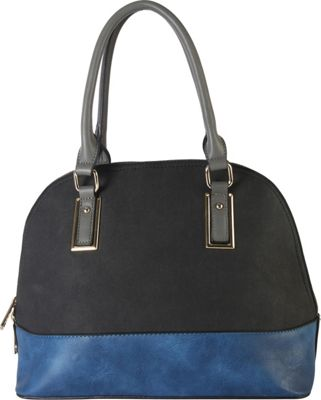 Diophy Two-tone Shell Tote with Removable Straps Black - Diophy Manmade Handbags
