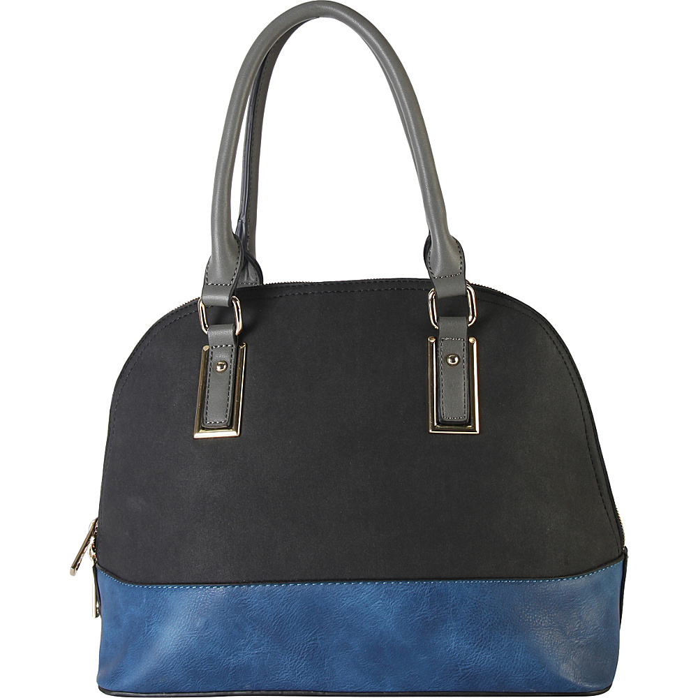 Diophy Two tone Shell Tote with Removable Straps Black Diophy Manmade Handbags