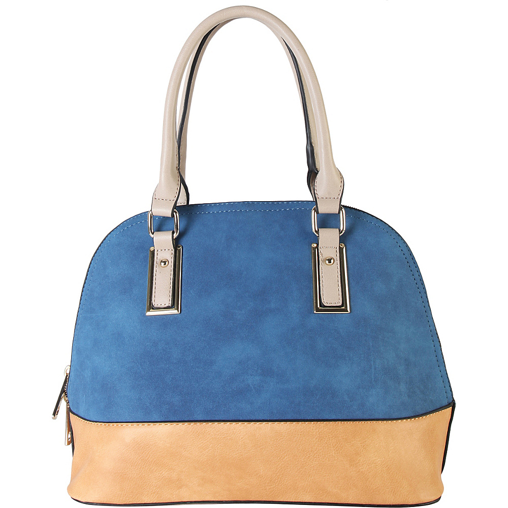 Diophy Two tone Shell Tote with Removable Straps Blue Diophy Manmade Handbags